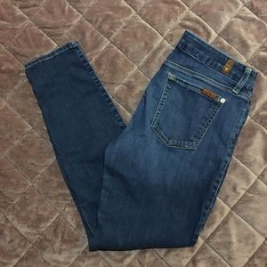 7 For All Mankind Distressed Skinny Ankle